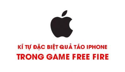 Cách hiển thị kí tự đặc biệt quả táo trong game Free Fire (FF)